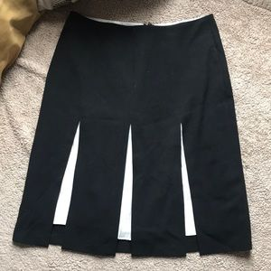 Black Skirt with White Accents